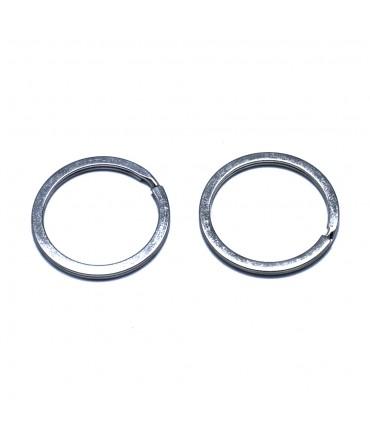 Anneaux support porte clé 25 mm gris