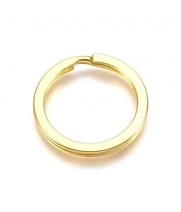 Anneaux support porte clé 25 mm doré
