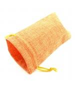 Pochettes jute 18x13 cm avec cordon lot de 10