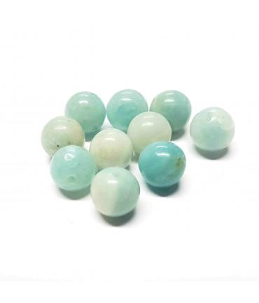 Perles rondes pierre gemme naturelle amazonite