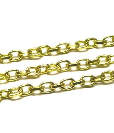 Chaine bijoux à mailles forçat 8 x 5,5 mm (1 mètre) - Anis
