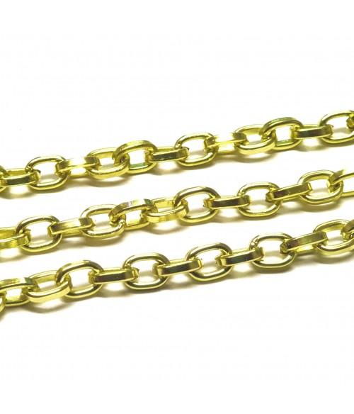 Chaine bijoux à mailles forçat 8 x 5,5 mm (1 mètre)