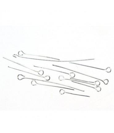 Tiges clous tête à œillets pour apprêts (50 pièces) - Argenté