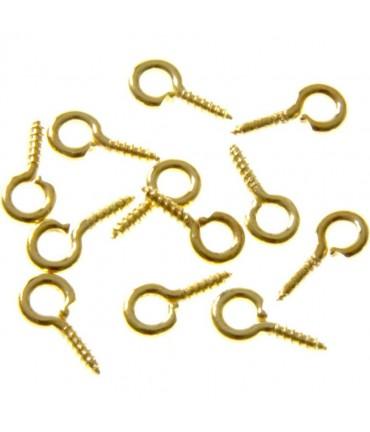 Piton à vis pour création bijoux 10 mm (100 pièces) - Doré