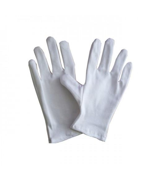 Paire de gants bijouterie coton blanc