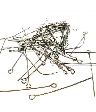 Tiges clous tête à œillets pour apprêts (200 pièces) - Anthracite