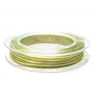 Fil nylon élastique 0,8 mm en bobine (10 mètres) - Vert clair