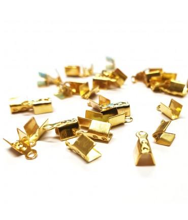 Embouts de serrage pour fil de 1,5 mm (100 pièces) - Doré