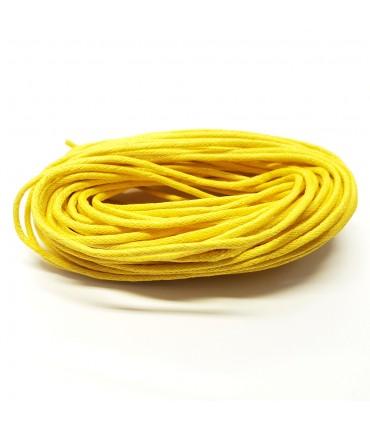 Fil coton ciré 2 mm (10 mètres) - Jaune