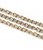 Chaine maille 3.5x2 mm bronze