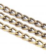 Chaine maillons gourmette 6 x 4 mm (1 mètre) - Bronze