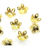 Calottes coupelles losanges pour perles (50 pièces) - Doré