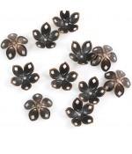 Calottes coupelles losanges pour perles (50 pièces) - Cuivre