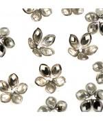 Calottes coupelles losanges pour perles (50 pièces) - Gris