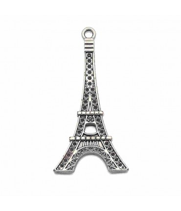 Grande breloque tour Eiffel Anthracite