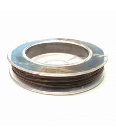 Fil nylon élastique 0,8 mm en bobine (10 mètres) - Marron
