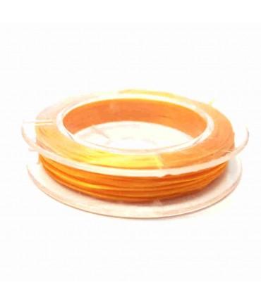 Fil nylon élastique 0,8 mm en bobine (10 mètres) - Orange