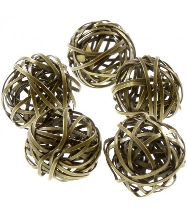 Perles rondes métal 20mm (5 pièces) - Bronze