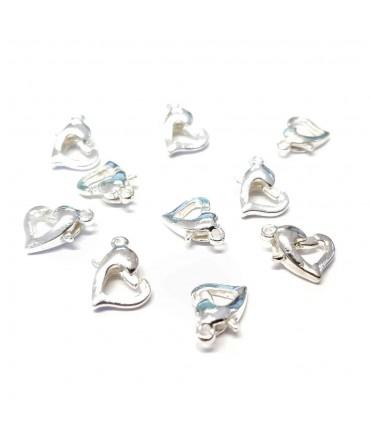 Fermoir bracelet petit cœur (10 pièces)