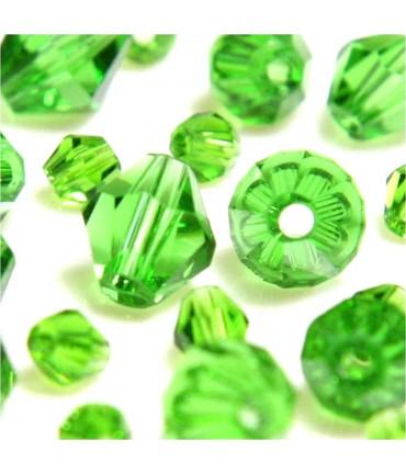 Perles cristal cz bicones quartz de Bohême 8 mm (40 pcs) - Vert