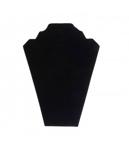 Buste presentoir colliers pliant en velours 22 cm