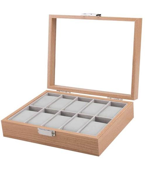 Coffret à montres en bois pour 10 montres