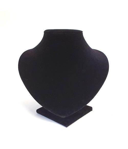 Buste porte collier et chaine velours 14 cm