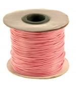 Fil coton ciré 1 mm en bobine de 80 mètres - Rose