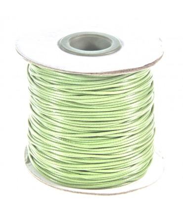 Fil coton ciré 1 mm en bobine de 80 mètres - Kaki