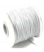 Fil coton ciré 1 mm en bobine de 80 mètres - Gris clair