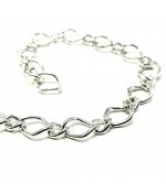 Chaine maille 10 x 7 mm gris