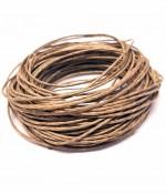 Fil coton ciré 1 mm (10 mètres) - Brun marron