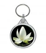 Porte clé photo lotus blanc