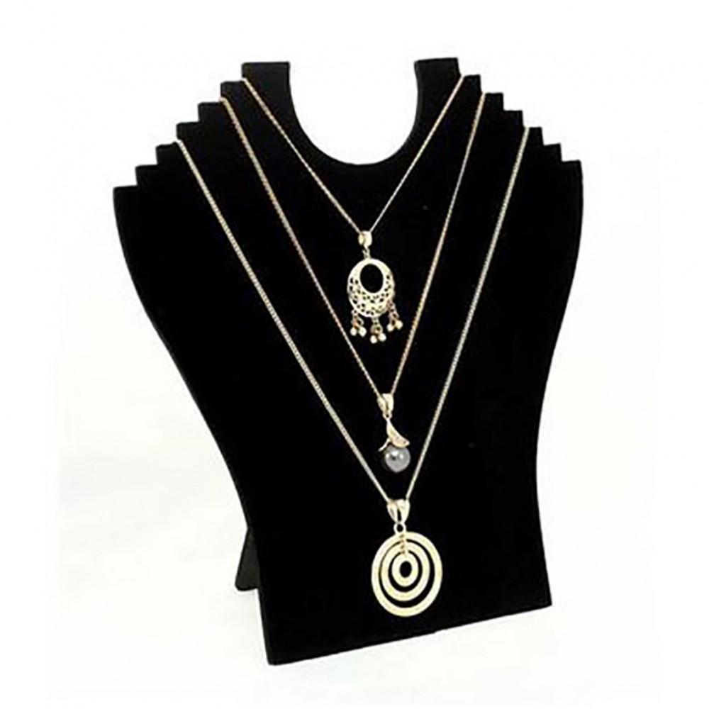 buste pliant velours pour colliers exposition bijoux. Black Bedroom Furniture Sets. Home Design Ideas