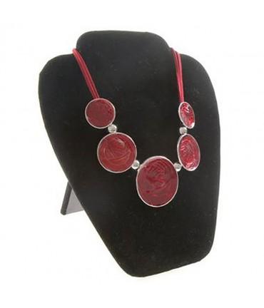 Buste plat pliant pour colliers velours noir 22 cm