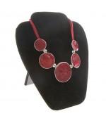 Buste plat pliant pour colliers velours noir 22 cm - Noir