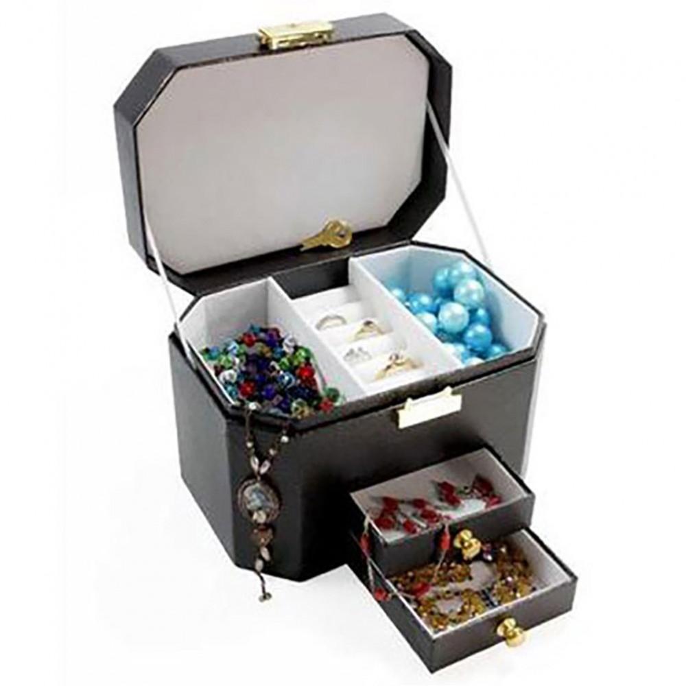 coffrets et boites boite bijoux octogonale pour ranger. Black Bedroom Furniture Sets. Home Design Ideas