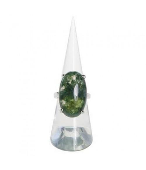 Presentoir bague plot cône en acrylique transparent