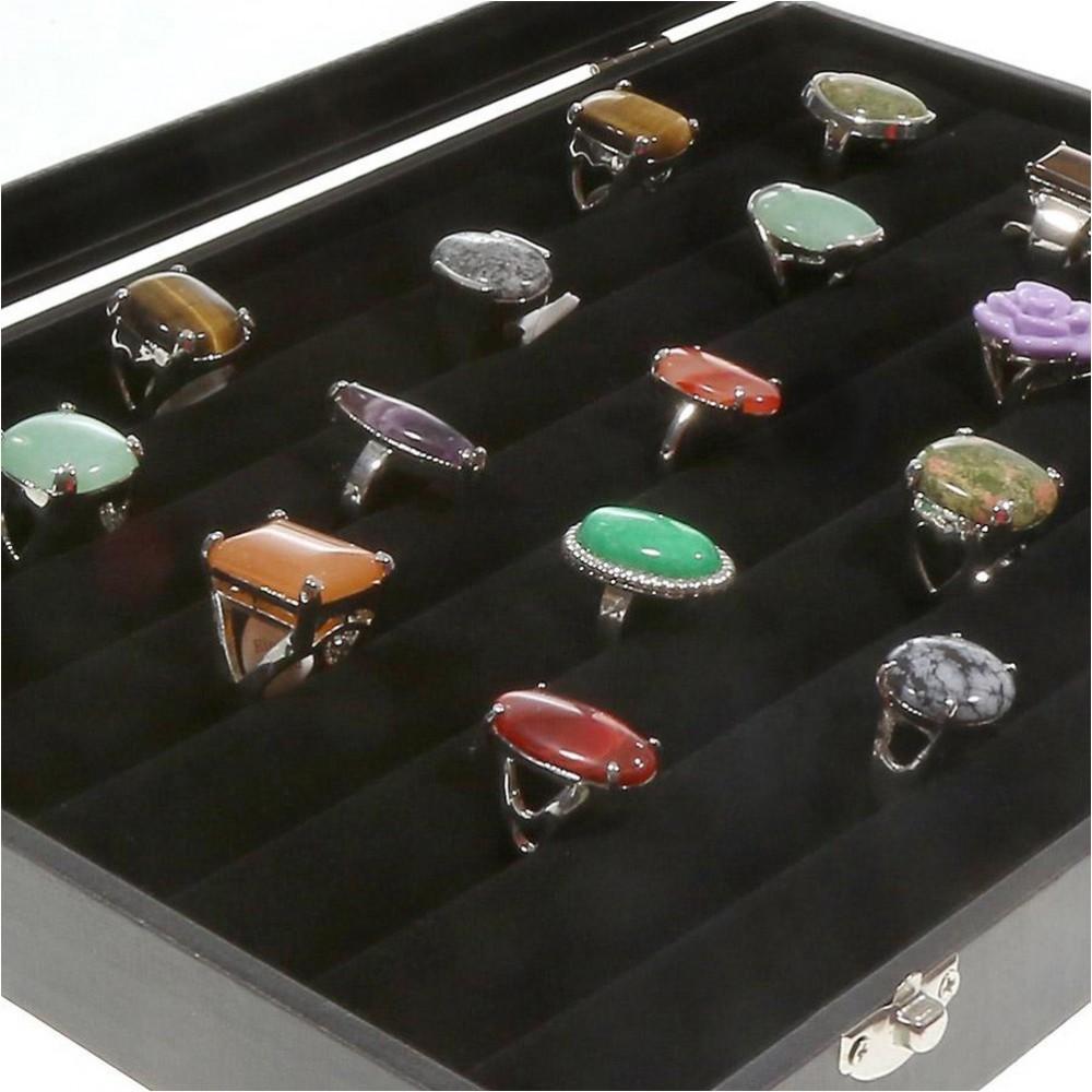 Boite a bague mallette bijoux de rangement pour bagues en - Boite de rangement pour bagues ...